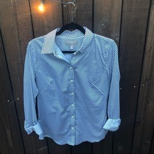 Patterned Button Down Shirt, Banana Rep., Size 8